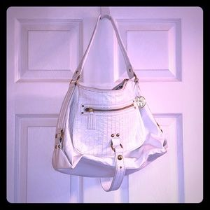 The Sac White Patent Hobo Bag